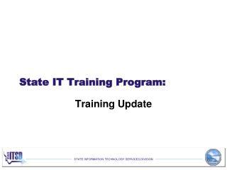State IT Training Program: