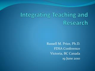 Integrating Teaching and Research