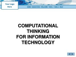 Computational Thinking for Information Technology