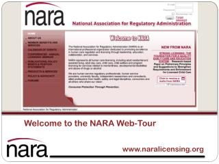 Welcome to the NARA Web-Tour