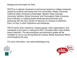 Background Information for RAs:
