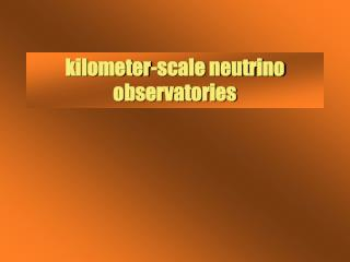 Kilometer-scale neutrino observatories