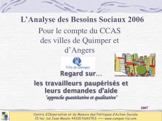 L'Analyse des Besoins Sociaux 2006