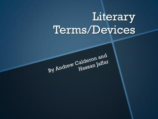 Literary Terms/Devices