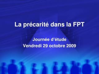 La précarité dans la FPT