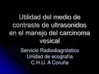 Utilidad del medio de contraste de ultrasonidos en el manejo del carcinoma vesical