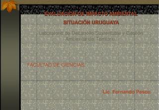 EVALUACIÓN DE IMPACTO AMBIENTAL SITUACIÓN URUGUAYA