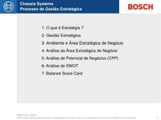 1- O que é Estratégia ? 2- Gestão Estratégica 3- Ambiente e Área Estratégica de Negócio