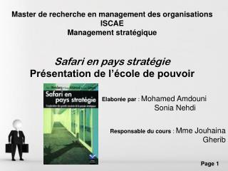 Master de recherche en management des organisations   ISCAE Management stratégique