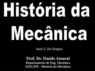 História da  Mecânica