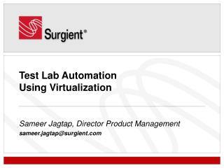 Test Lab Automation  Using Virtualization