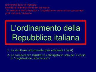L�ordinamento della Repubblica italiana