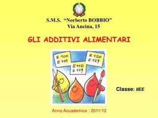 Anno Accademico : 2011/12