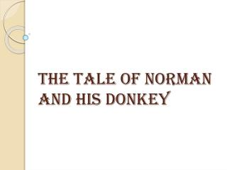 The tale of Norman and his Donkey