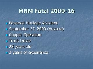 MNM Fatal 2009-16