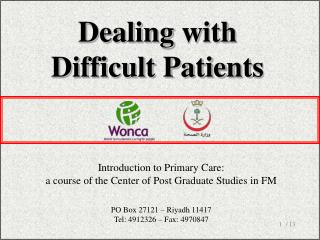 Dealing  w ith Difficult Patient s