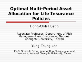 Optimal Multi-Period Asset Allocation for Life Insurance Policies