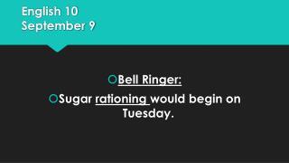 English 10 September 9