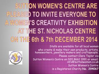 Stalls are available for all local women
