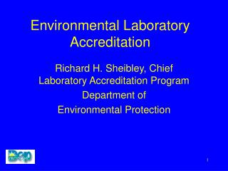 Environmental Laboratory Accreditation