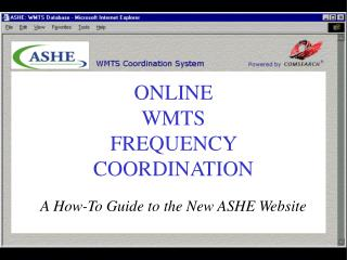 ONLINE WMTS FREQUENCY COORDINATION