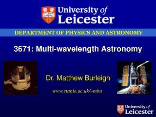 3671: Multi-wavelength Astronomy