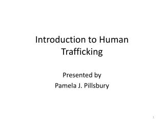 Introduction to Human Trafficking