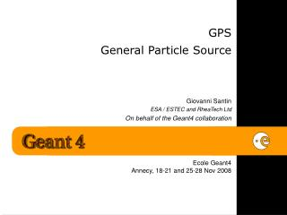 GPS General Particle Source