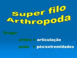 Grego: arthro =  articula��o poda =  p�s/extremidades