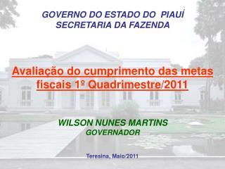 GOVERNO DO ESTADO DO  PIAUÍ SECRETARIA DA FAZENDA