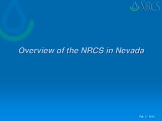 Overview of the NRCS in Nevada