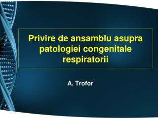 Privire de ansamblu asupra patologiei congenitale respiratorii