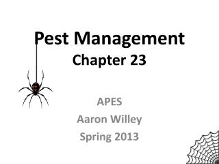 Pest Management Chapter 23