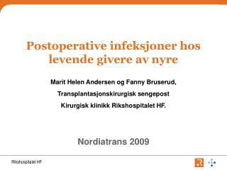 Postoperative infeksjoner hos levende givere av nyre
