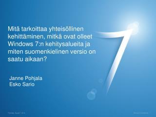 Janne Pohjala Esko Sario