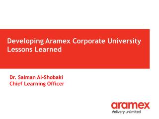 Developing  Aramex Corporate University Lessons Learned