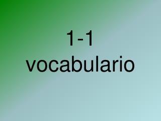 1-1  vocabulario