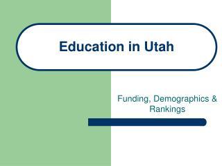 Education in Utah