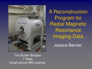 A Reconstruction Program for Radial Magnetic Resonance Imaging Data