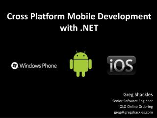 Cross Platform Mobile Development with .NET