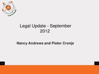 Legal Update - September 2012
