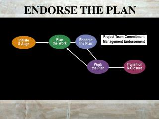 ENDORSE THE PLAN
