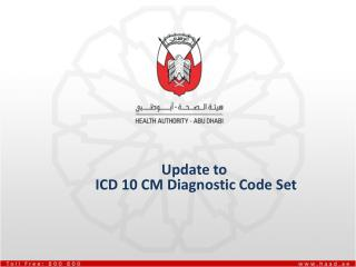 Update to   ICD 10 CM Diagnostic Code Set