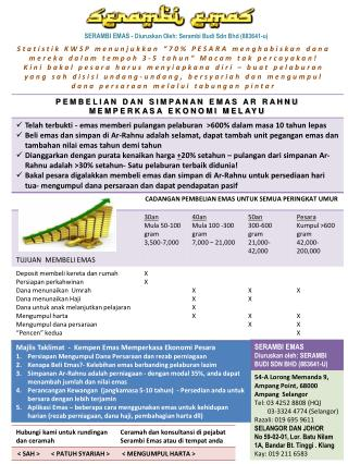 SERAMBI  EMAS -  Diuruskan Oleh :  Serambi  Budi  Sdn Bhd  (883641-u)