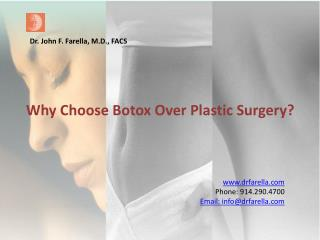 Why Choose Botox Over Plastic Surgery?