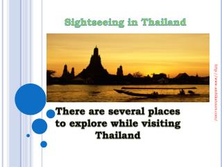 Sightseeing in Thailand through Ambika Tours
