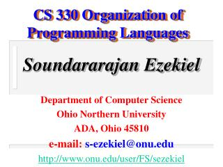 CS 330 Organization of Programming Languages