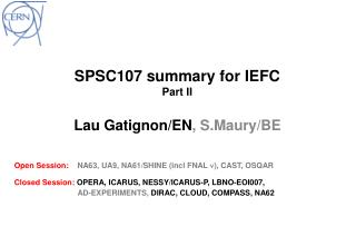 SPSC107  summary for  IEFC Part II