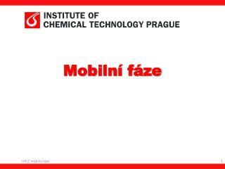 Mobilní fáze