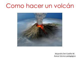 Como hacer un volcán